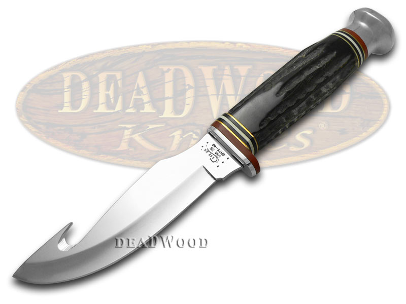Case xx Genuine Buffalo Horn Guthook Fixed Blade Stainless Knife Knives