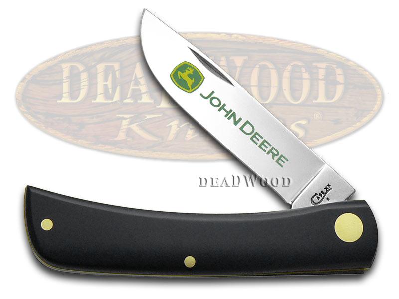 Case xx John Deere Black Delrin Sodbuster Jr Stainless Pocket Knife Knives
