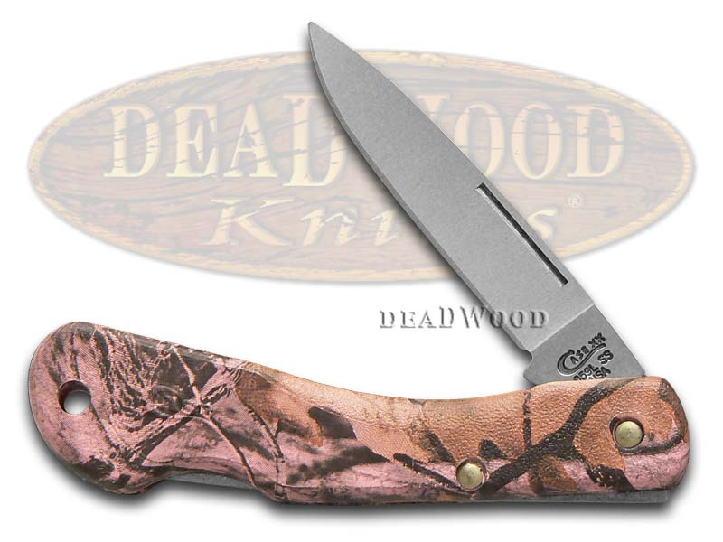 Case xx Pink Camo Zytel Mini Blackhorn Lockback Stainless Pocket Knife Knives
