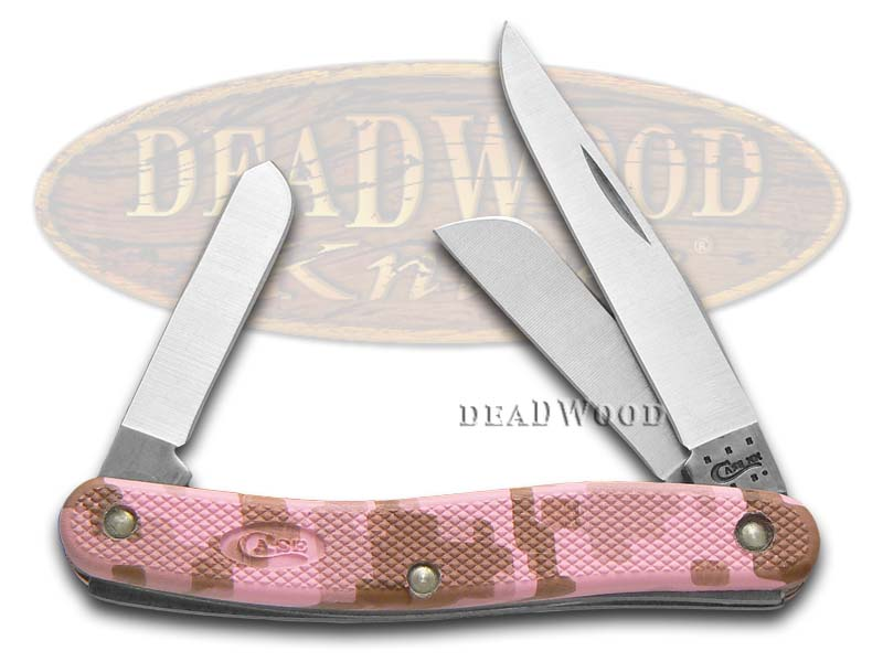 Case xx Pink Camo Caliber Zytel Medium Stockman Stainless Pocket Knife Knives