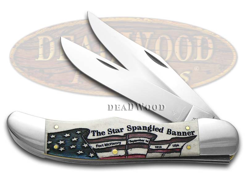 Case xx Star Spangled Banner Anthem Folding Hunter 1/250 Stainless Pocket Knife
