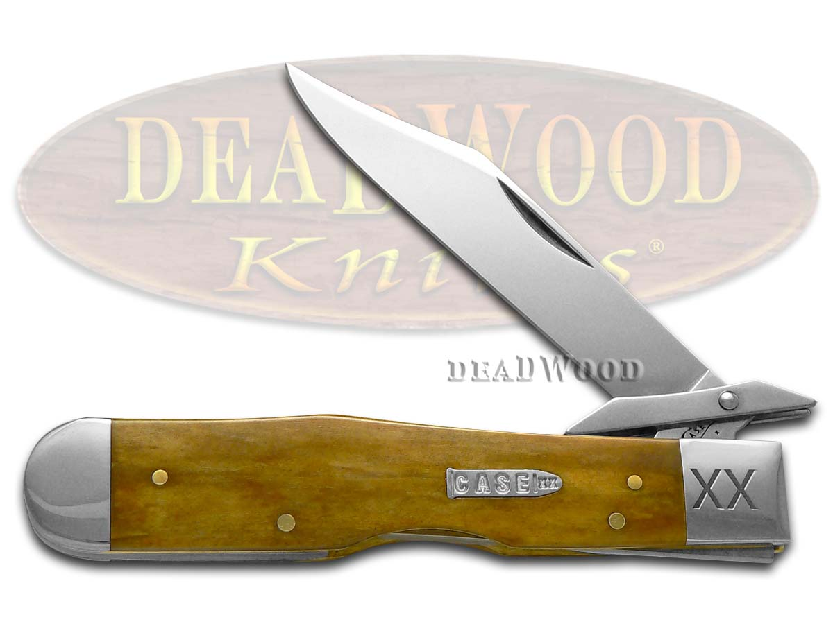 Case xx Smooth Antique Bone Cheetah 1/500 Stainless Pocket Knife Knives