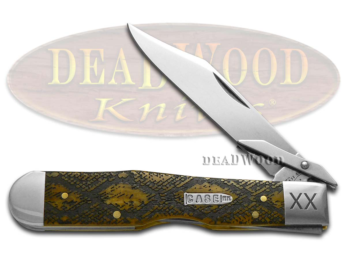 Case xx Diamondback Antique Bone Cheetah 1/500 Stainless Pocket Knife Knives