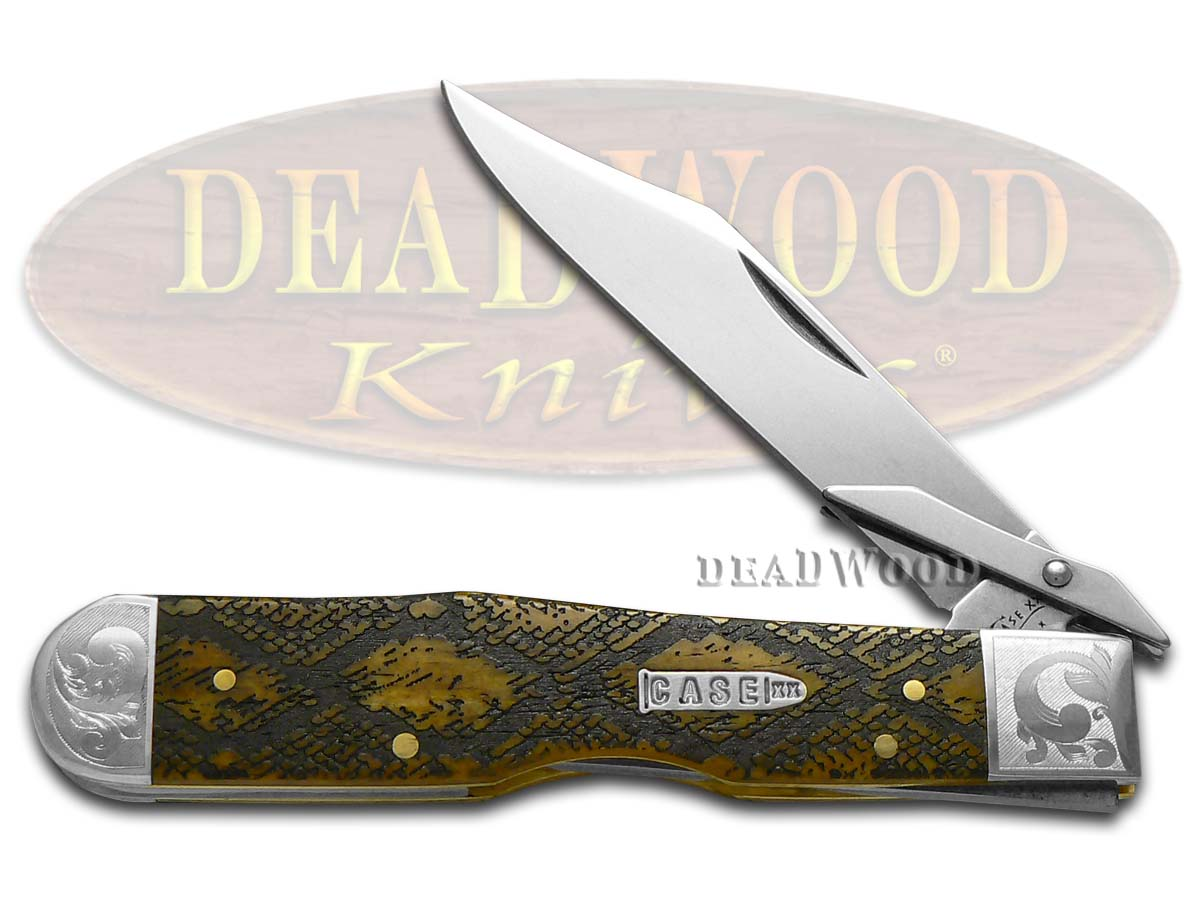 Case xx Diamondback Antique Bone Cheetah 1/200 Stainless Pocket Knife Knives