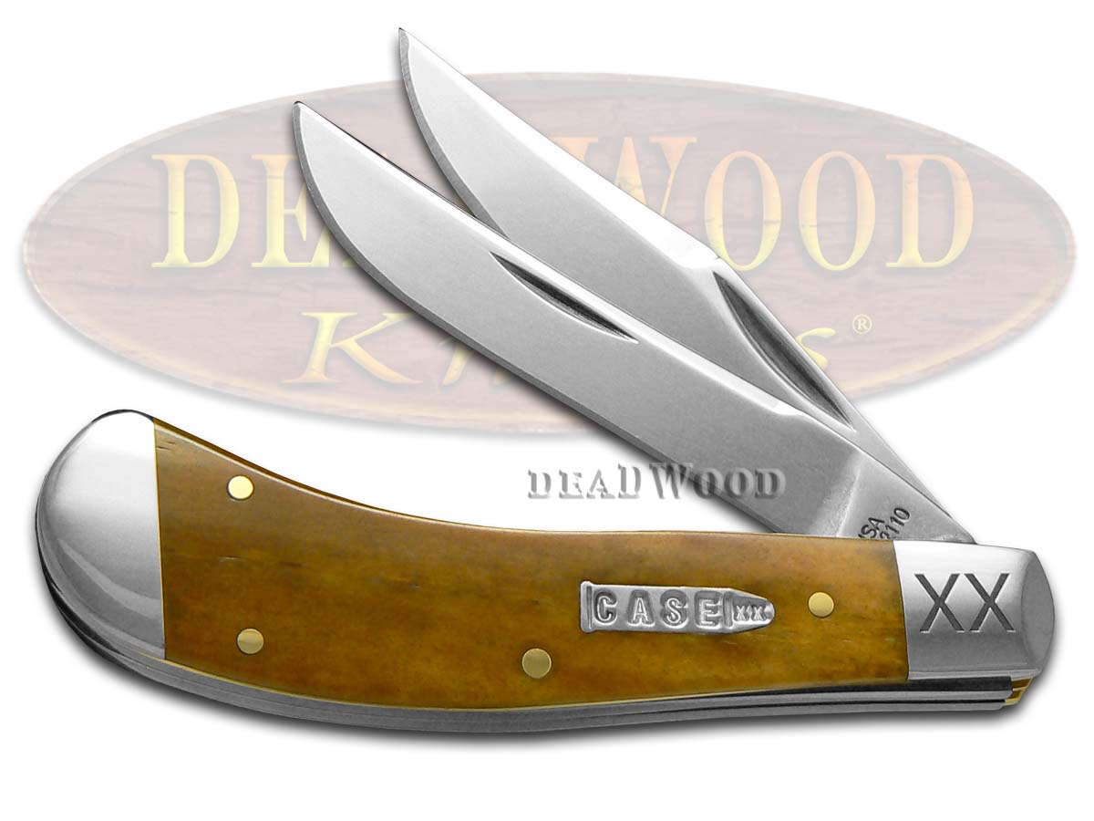 Case xx Smooth Antique Bone Saddlehorn 1/500 Stainless Pocket Knife Knives