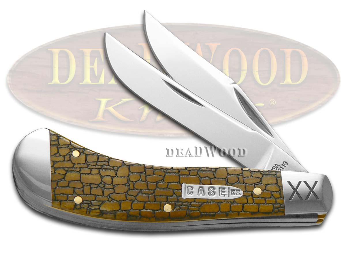 Case xx Stone Wall Antique Bone Saddlehorn Stainless Pocket Knife Knives