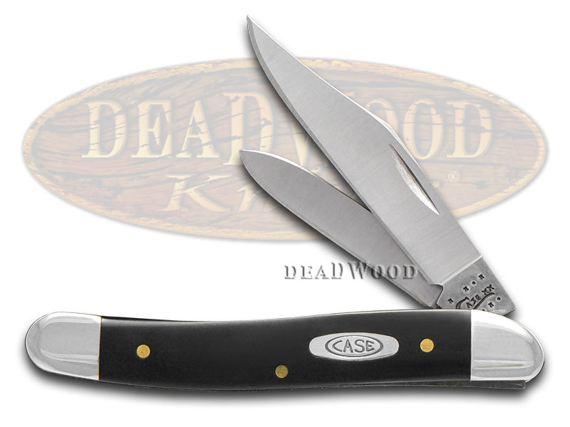 Case xx Black Delrin Medium Jack Stainless Pocket Knife Knives