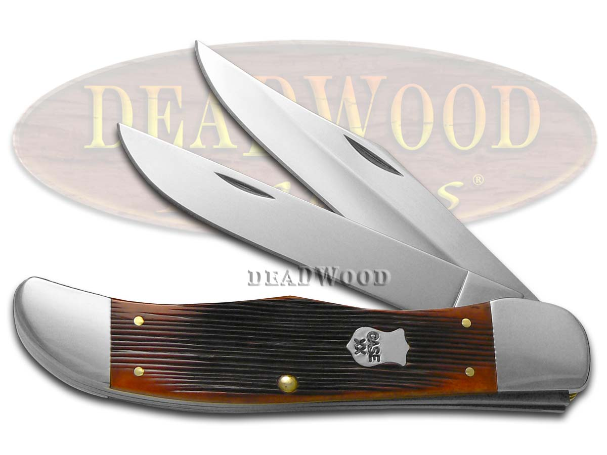 Case xx Barnboard Chestnut Bone Folding Hunter Stainless Pocket Knife Knives