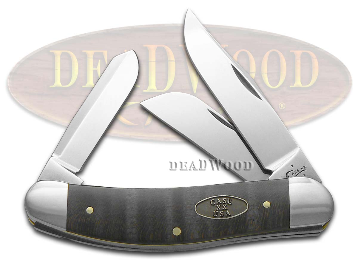 Case xx Smooth Black Curly Maple Wood Sowbelly Stainless Pocket Knife Knives