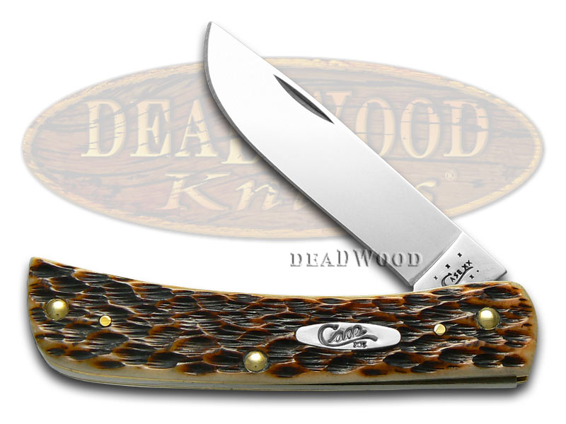 Case xx Jigged Amber Bone Sodbuster Jr Stainless Pocket Knife Knives