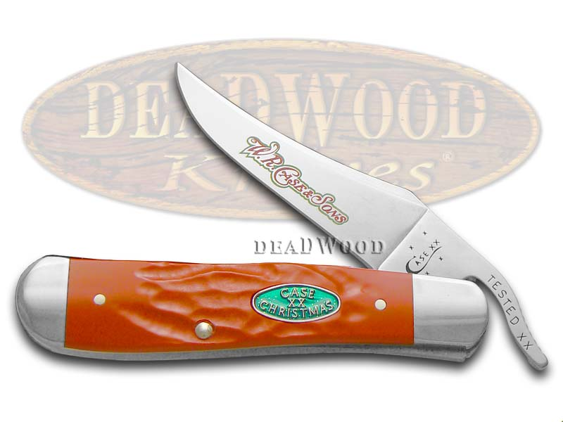 Case xx Christmas Jigged Red Delrin Synthetic Russlock Stainless Pocket Knife Knives