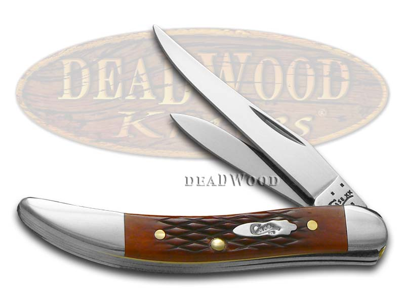 Case xx Checkered Chestnut Bone Double Blade Toothpick Stainless Pocket Knife Knives