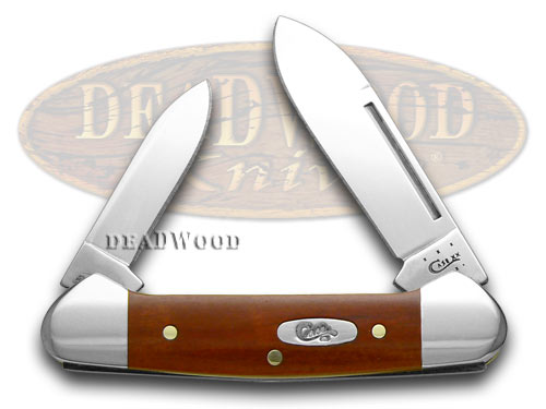 Case xx Smooth Chestnut Bone Baby Butterbean Pocket Knife Knives