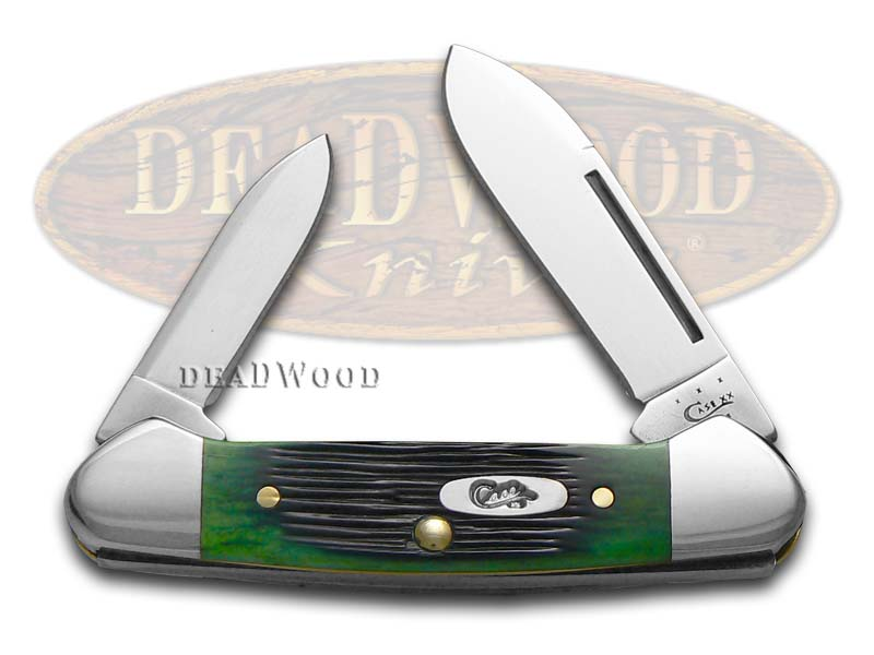 Case xx Barnboard Jigged Green Bone Butterbean Stainless Pocket Knife Knives