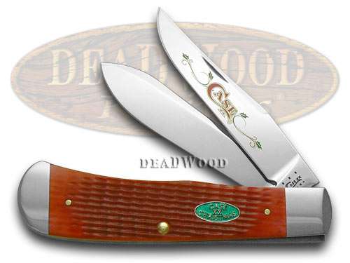 Case xx Red Jigged Bone Christmas 1/500 Panama Trapper Pocket Knife Knives
