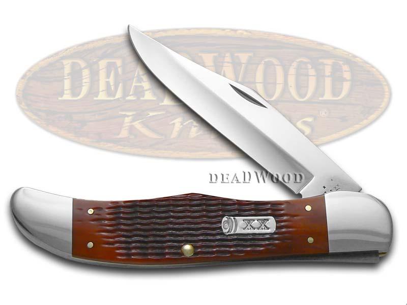 Case xx Jigged Autumn Harvest Bone Folding Hunter Stainless Pocket Knife Knives