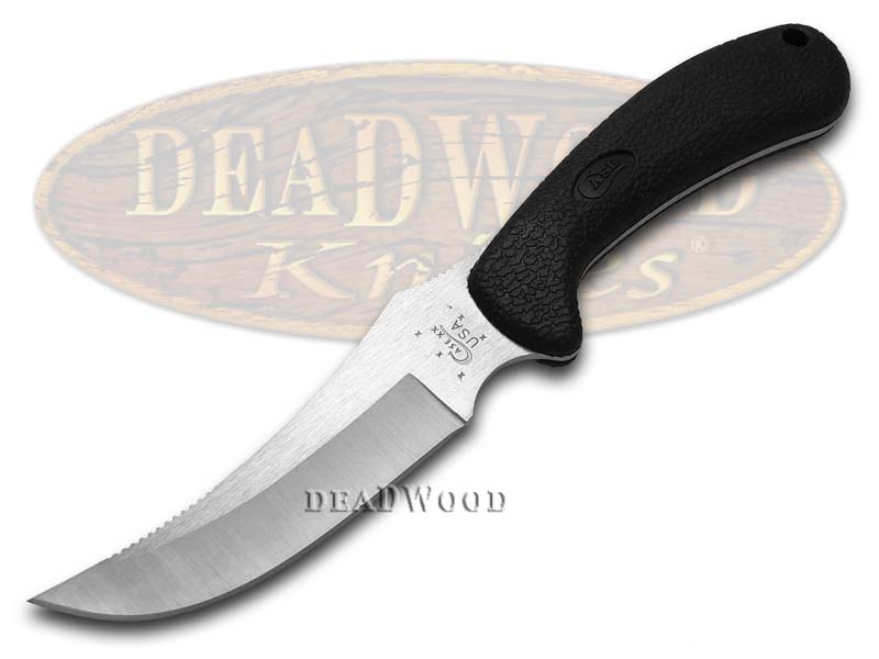 Case xx Lightweight Black Hunter Ridgeback Fixed Blade Stainless Knife Knives