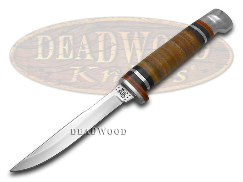 Case xx Polished Leather Small Fixed Blade Hunter Stainless Knife Knives