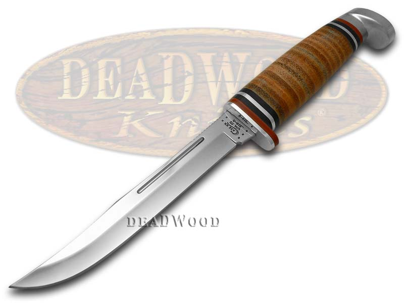 Case xx Polished Leather Slim Fixed Blade Hunter Stainless Knife Knives