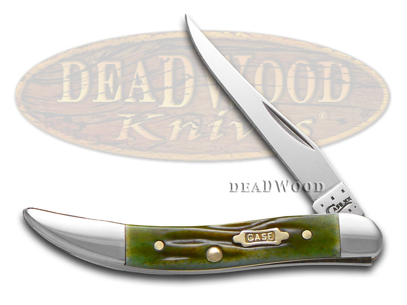 Case xx Worm Groove Moss Brown Small Toothpick Stainless 1/1000 Pocket Knife Knives