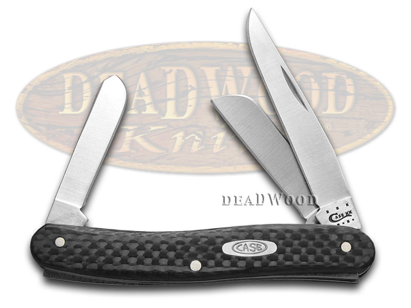Case Knives CASE XX Black Carbon Fiber Medium Stockman Stainless Pocket Knife Knives at Sears.com