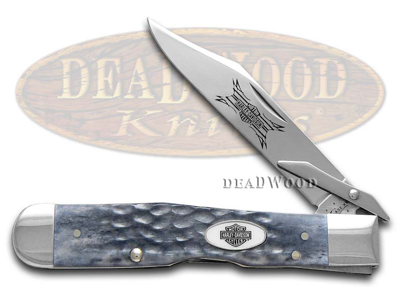 Case xx Harley-Davidson Jigged Gray Bone Cheetah Stainless Pocket Knife Knives