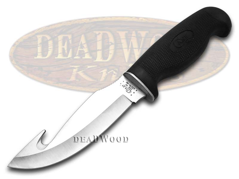 Case xx Lightweight Black Synthetic Guthook Fixed Blade Stainless Knife Knives