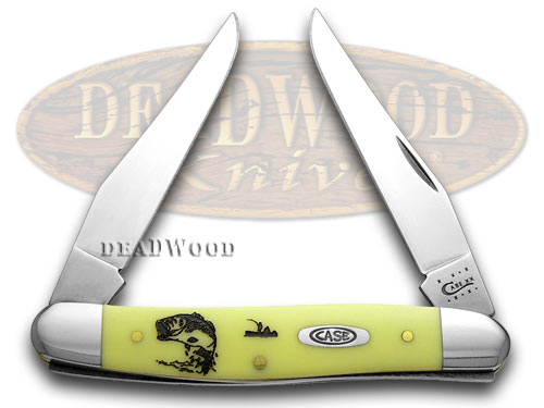 Case xx Yellow Delrin Bass Fever Muskrat Pocket Knife Knives CV