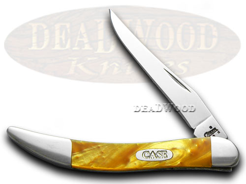 Case xx Tiny Toothpick with Custom Antique Gold Corelon Pocket Knife Knives