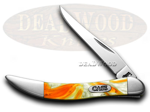 Case xx Cinnamon Orange Glow Toothpick Pocket Knife Knives