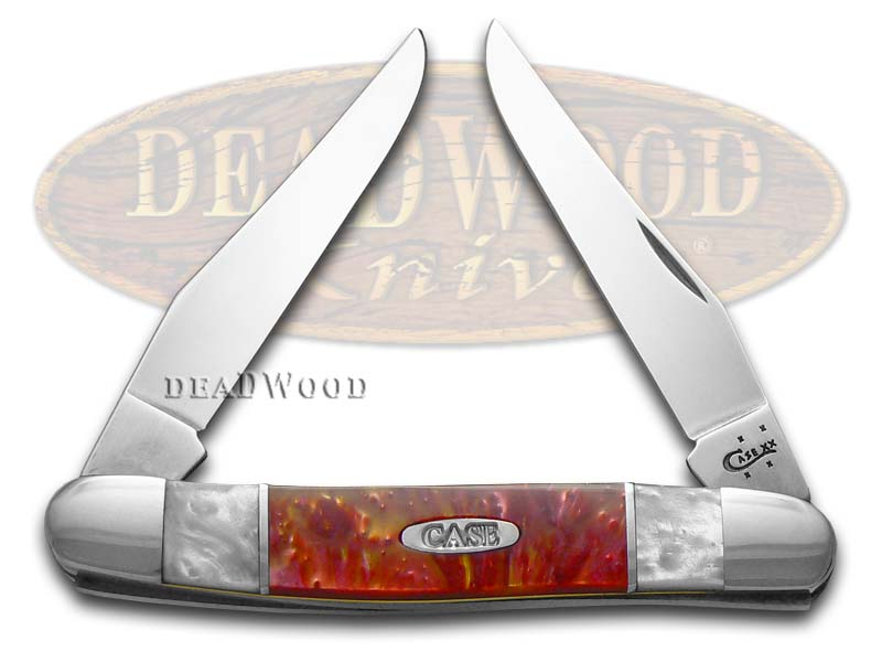 Case xx White Pearl and Sun Dance Corelon Muskrat Stainless Pocket Knife Knives