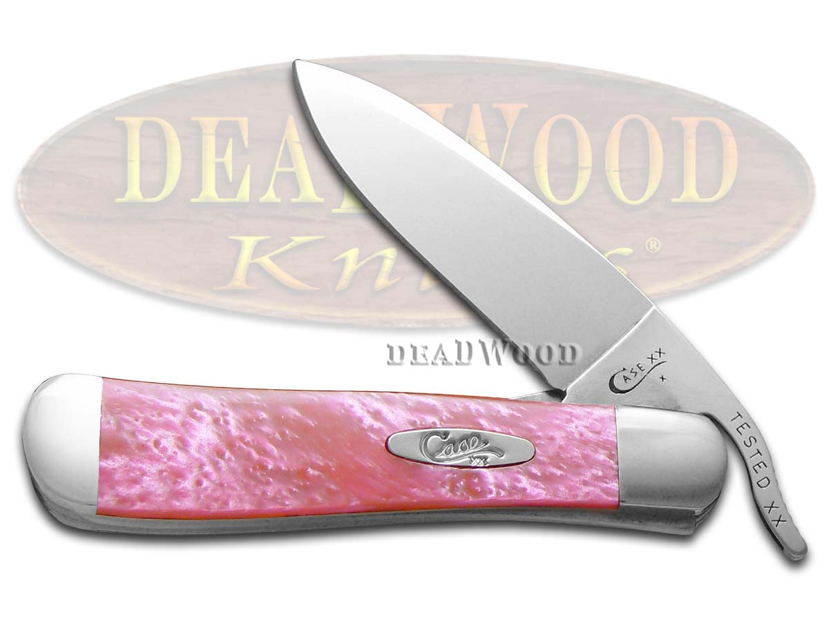 Case xx Pink Salmon Corelon Russlock Stainless Pocket Knife Knives