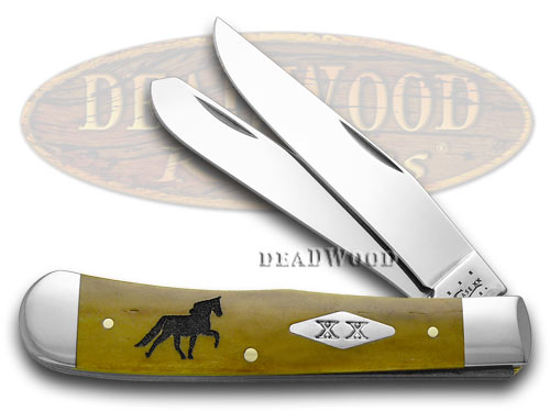 Case xx Antique Bone Tennessee Walking Horse Trapper 1/500 Pocket Knife Knives