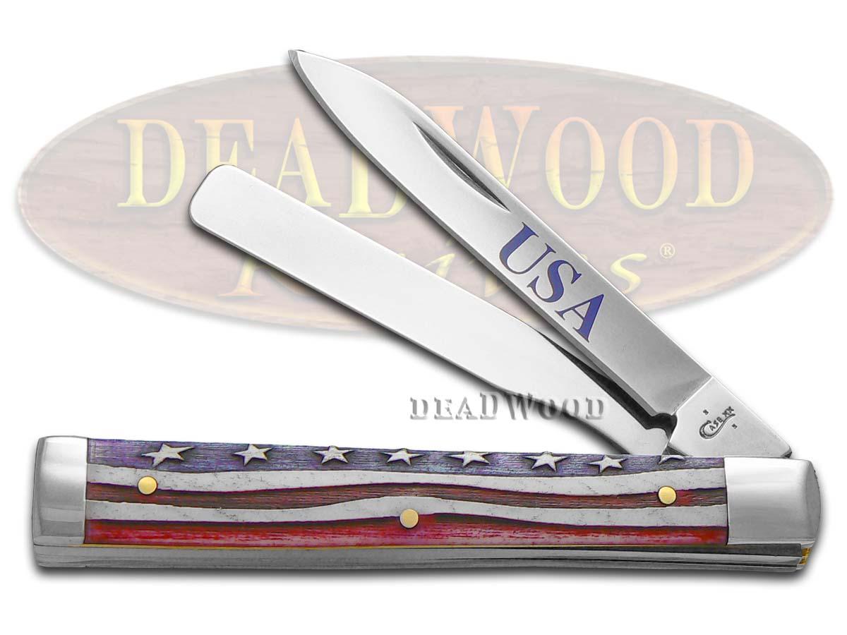 Case xx Star Spangled Natural Bone Doctor Stainless 64128 Pocket Knife Knives