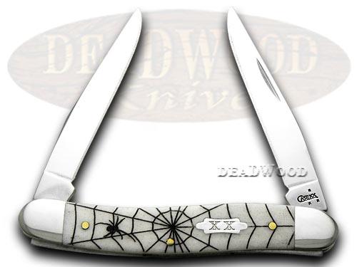 Case xx Spider Web 1/600 Mini Muskrat Smooth Natural Bone Pocket Knife Knives