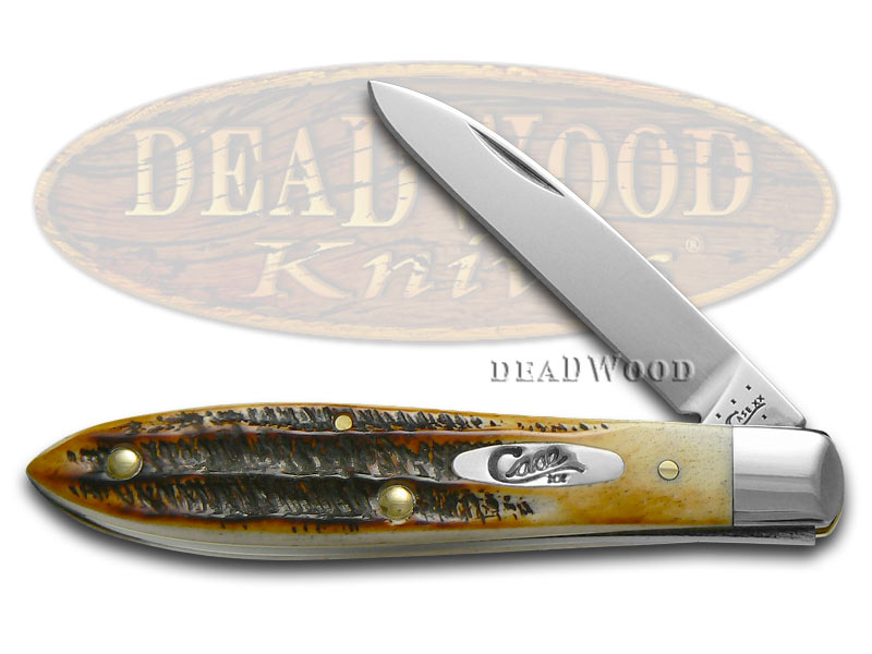 Case xx 6.5 Bonestag Tear Drop Jack Stainless Pocket Knife Knives
