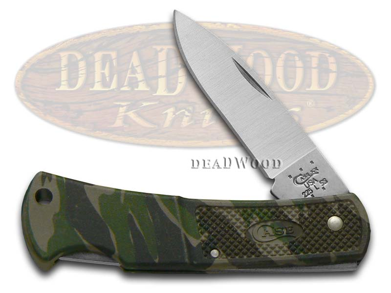 Case xx Camo Caliber Zytel Small Lockback Stainless Pocket Knife Knives