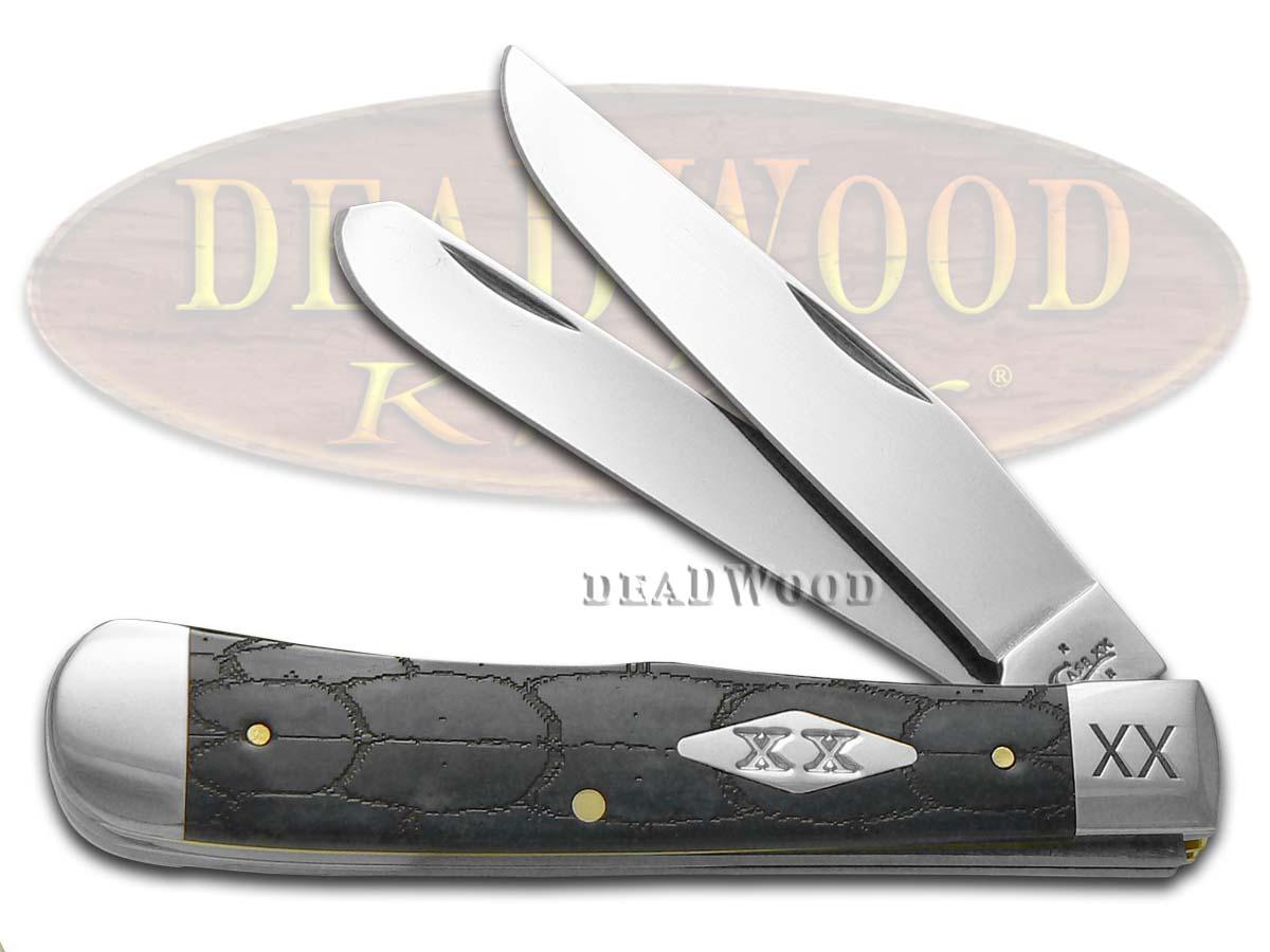 Case xx Tortoise Shell Gray Bone Trapper Stainless Pocket Knife Knives