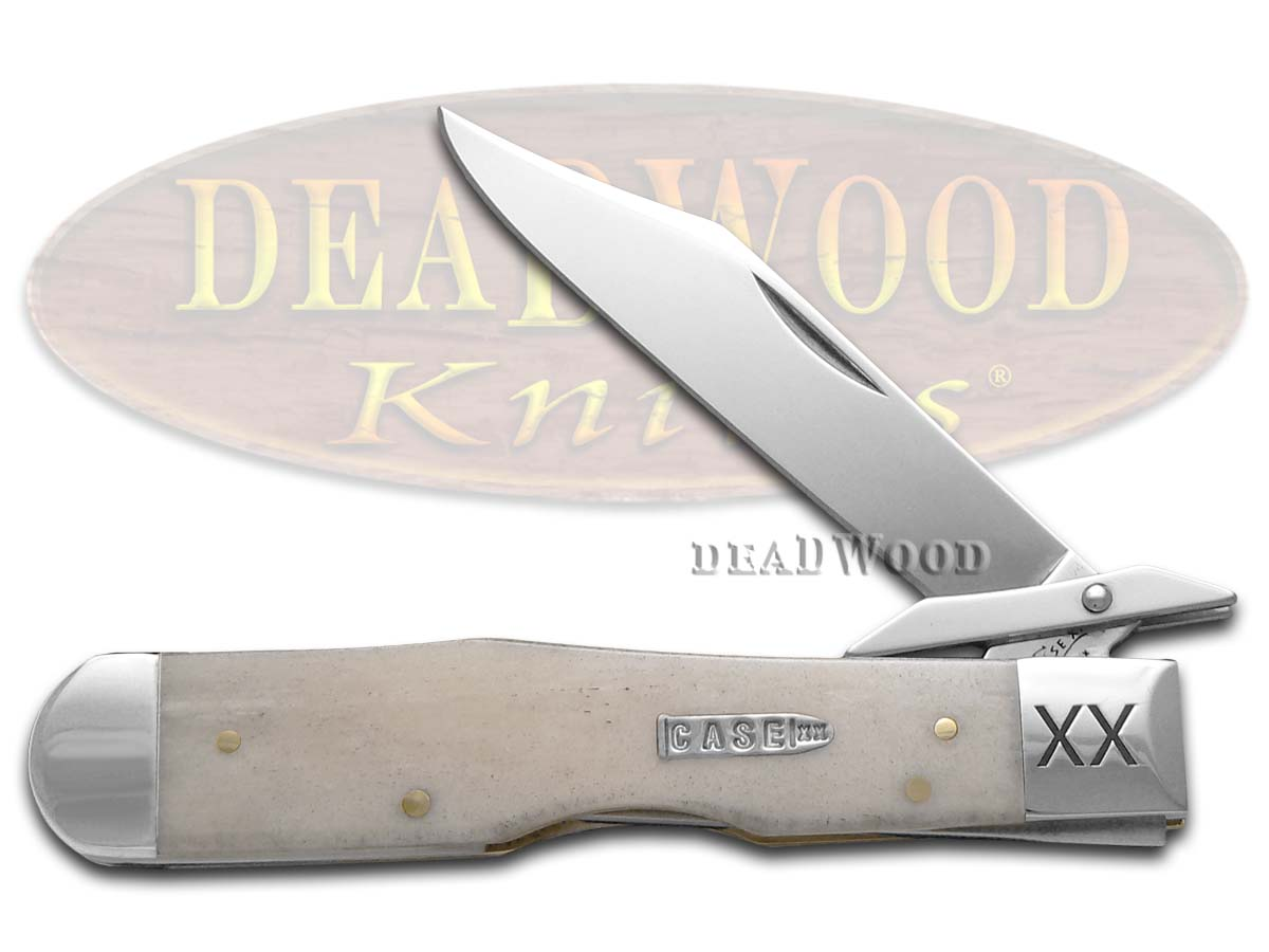 Case xx Engraved 'Single Shot' Natural Bone Cheetah 6742 Stainless 1/500 Pocket Knife Knives
