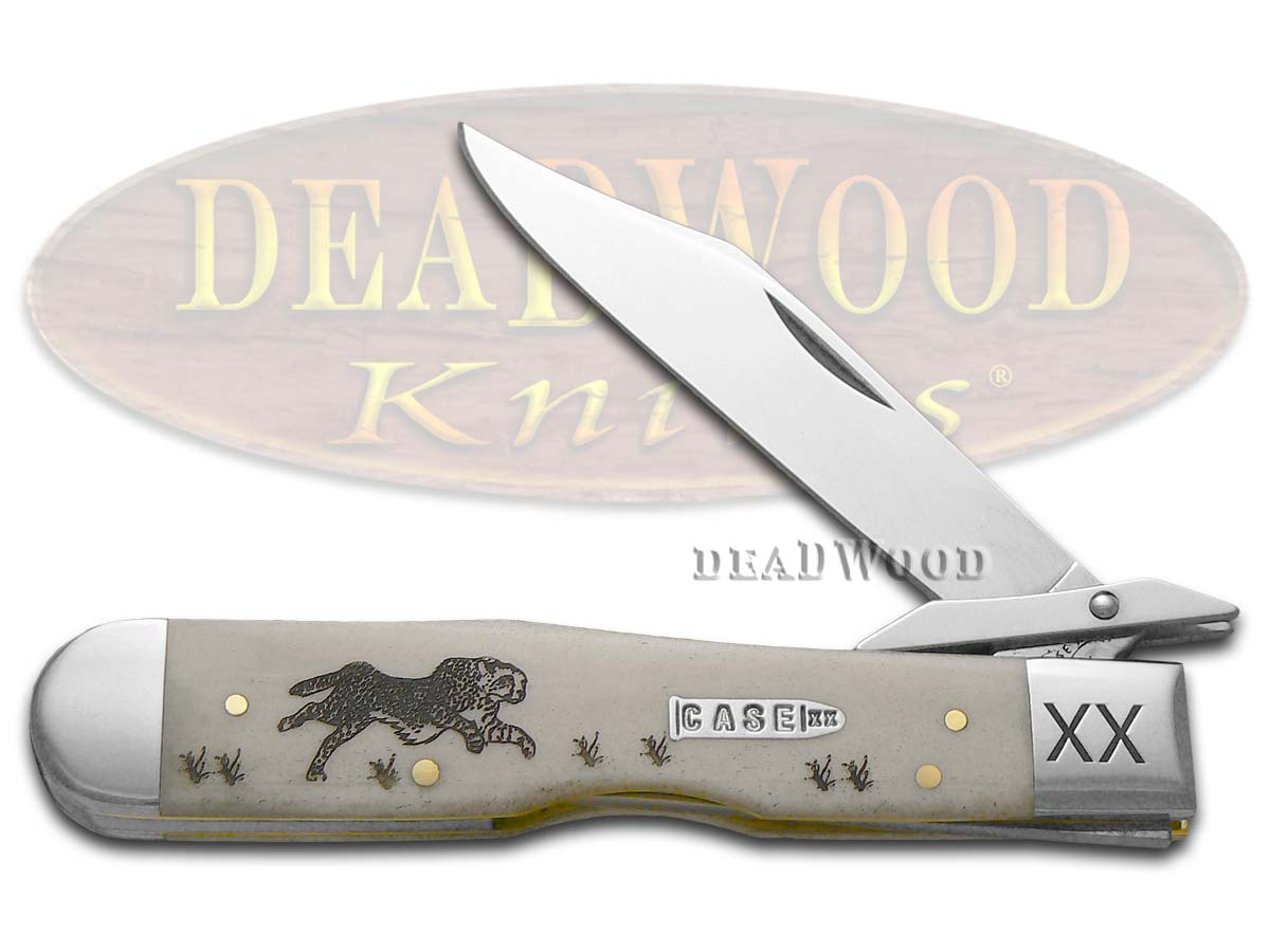 Case xx Natural Bone Running Cheetah 1/500 Stainless Pocket Knife Knives