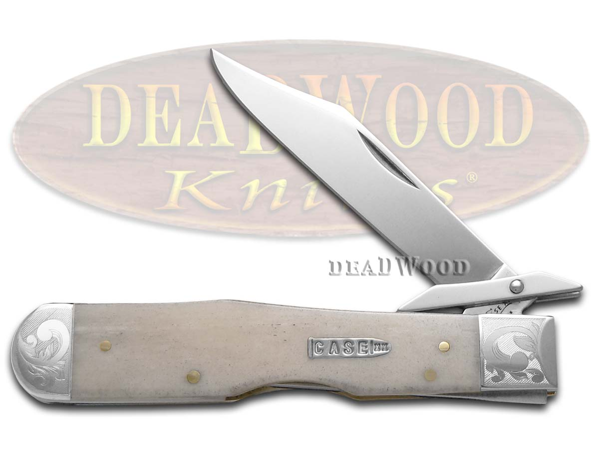 Case xx Scrolled 'Single Shot' Natural Bone Cheetah 6743E Stainless 1/200 Pocket Knife Knives