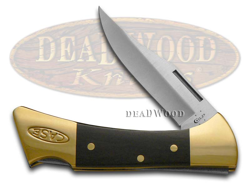Case xx Smooth Ebony Wood Mako Lockback Stainless Pocket Knife Knives