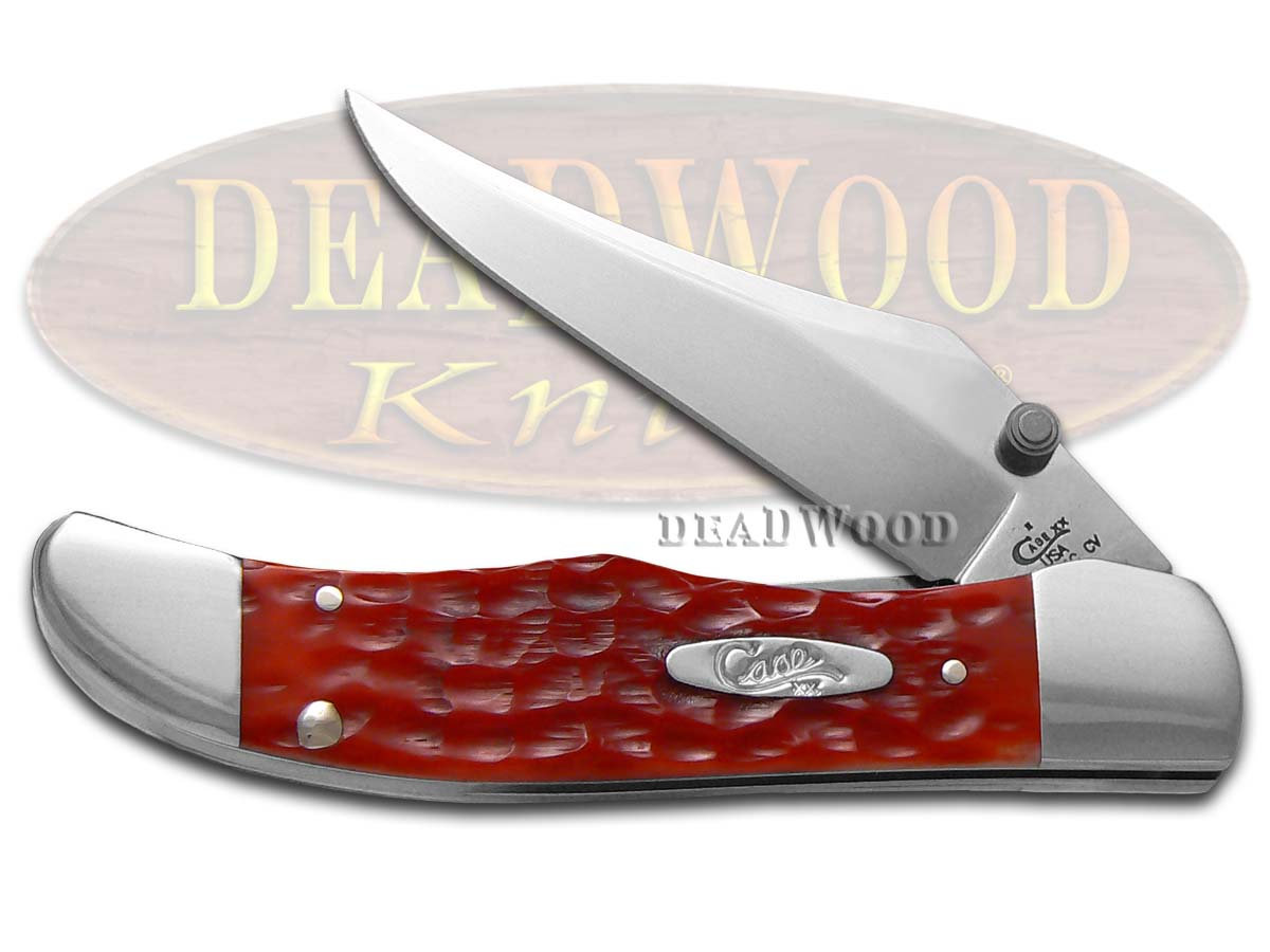 Case xx Jigged Red Bone Kickstart Mid Folding Hunter Chrome Vanadium Pocket Knife Knives