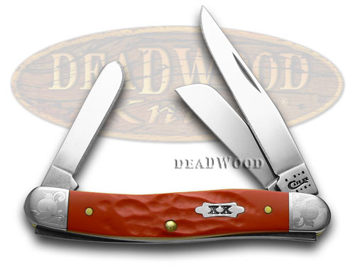 Case xx Rough Red Scrolled Bolster Stockman 1/500 Pocket Knife Knives