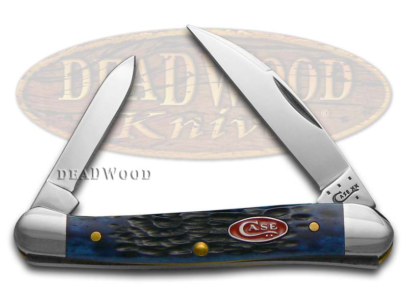 Case xx Jigged Navy Blue Bone Mini Copperhead Stainless Pocket Knife Knives