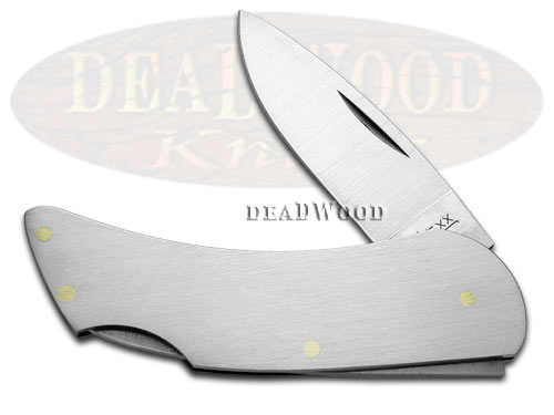 Case xx Executive Lockback Brushed Steel Pocket Knife Knives