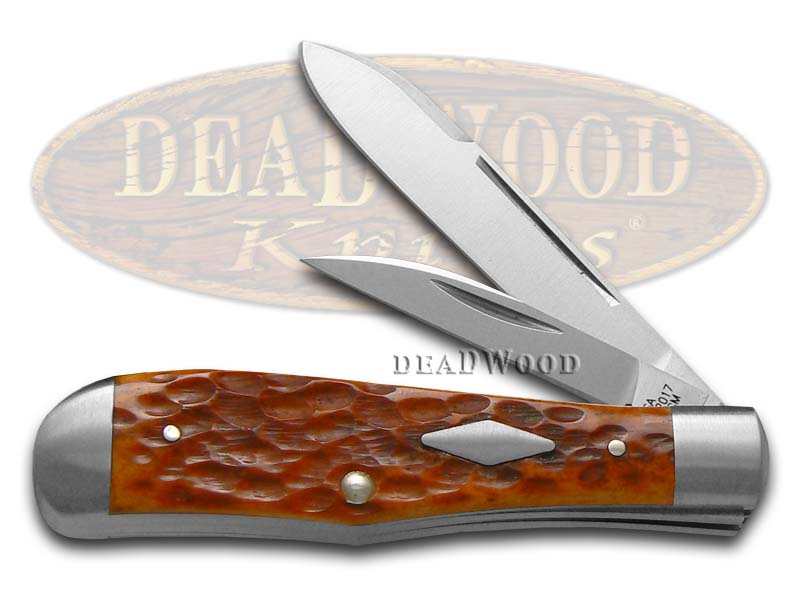 Case xx Jigged Chestnut Bone Eureka Jack 154-CM Stainless Pocket Knife Knives