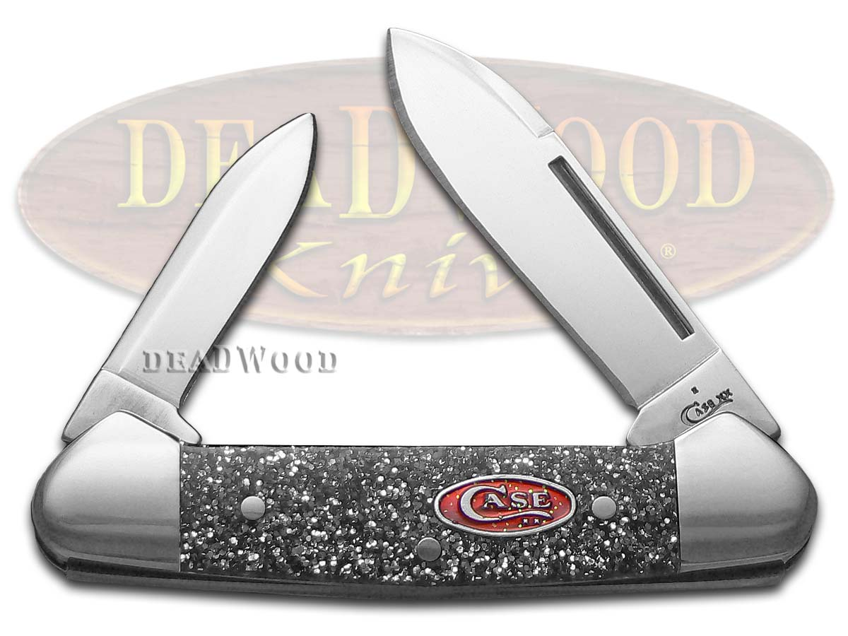 Case xx Smooth Silver Stardust Kirinite Butterbean Stainless Pocket Knife Knives