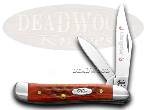 Case xx Daughter Peanut - Red Bone Pocket Worn Knife Knives