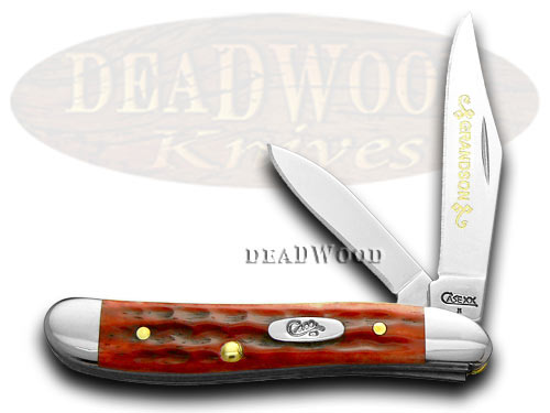 Case xx Red Bone Grandson Peanut 1/500 Pocket Knife Knives